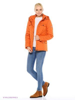 Куртка Finn Flare. Цвет: рыжий