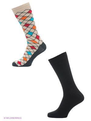 Носки, 2 пары Skinija. Цвет: черный