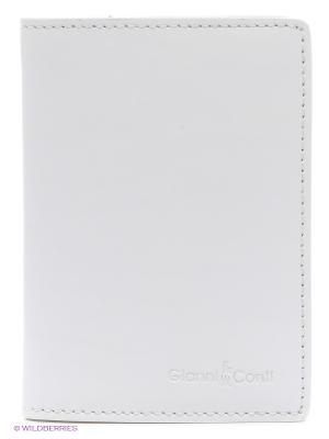 Обложка для паспорта Gianni Conti. Цвет: белый, бежевый