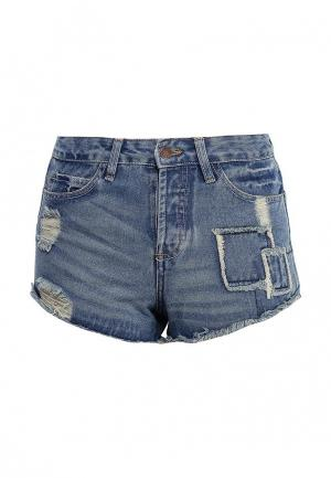 Шорты джинсовые Urban Bliss. Цвет: синий
