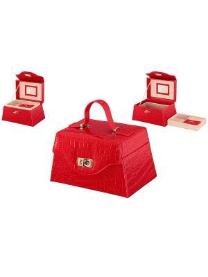 Шкатулка Красный чемоданчик Elan Gallery. Цвет: красный