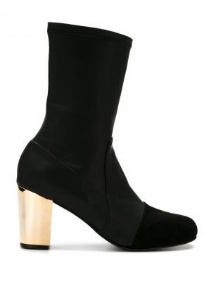 Metallic heel boots Giuliana Romanno. Цвет: чёрный