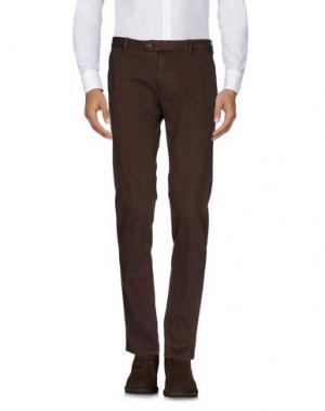Повседневные брюки GIO ZUBON. Цвет: темно-коричневый
