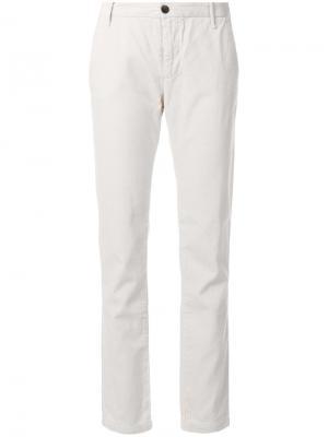 Укороченные вельветовые брюки Bellerose. Цвет: телесный