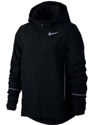 Куртка G NK JKT HD RUN Nike. Цвет: черный