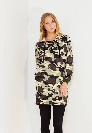Платье TrendyAngel. Цвет: хаки