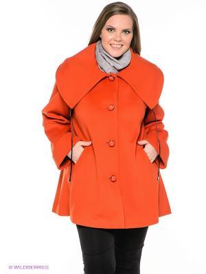 Пальто Klimini. Цвет: оранжевый