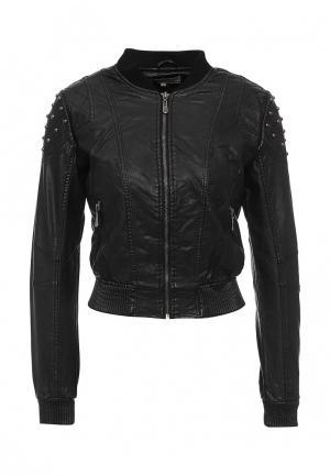 Куртка кожаная Lucid. Цвет: черный
