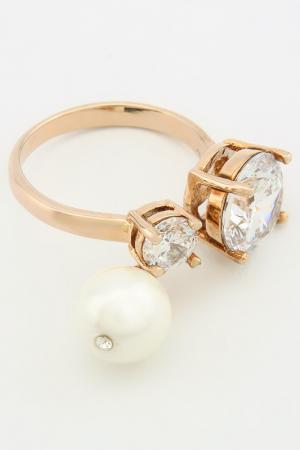 Кольцо Donna Lorena. Цвет: розовое золото
