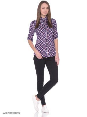 Рубашка HomeLike. Цвет: розовый, темно-синий