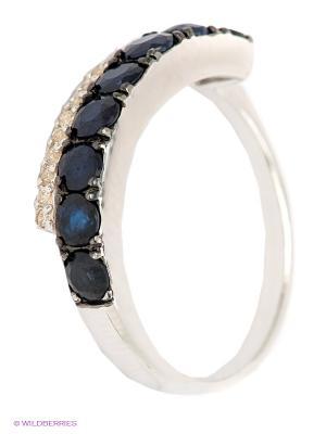 Кольцо Art Silver. Цвет: темно-синий, серебристый