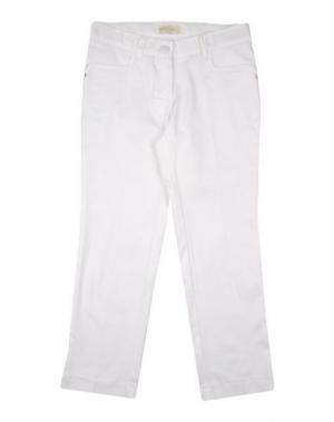 Повседневные брюки MONNALISA CHIC. Цвет: белый