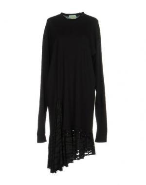 Платье до колена ARIES. Цвет: черный