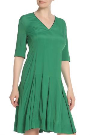 Платье с треугольным вырезом Marni. Цвет: зеленый