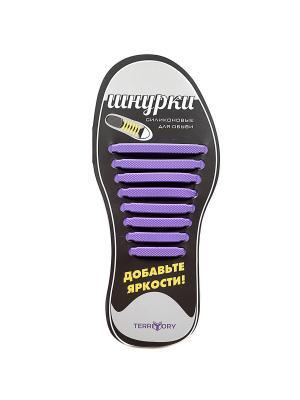 Cиликоновые шнурки TERRITORY. Цвет: фиолетовый