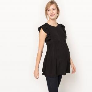 Блузка для периода беременности R essentiel. Цвет: розовый коралловый,черный
