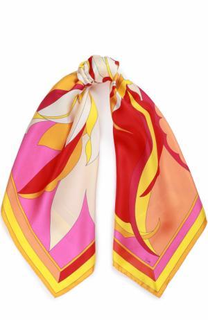 Шелковый платок с принтом Emilio Pucci. Цвет: розовый