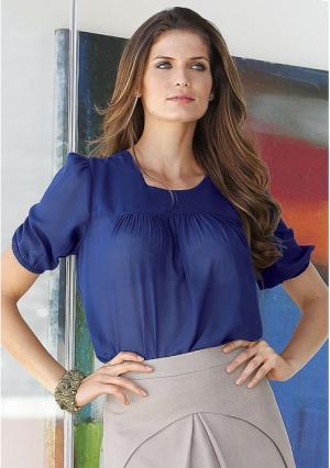 Блузка MY STYLE. Цвет: синий