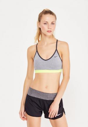 Топ спортивный Nike. Цвет: серый