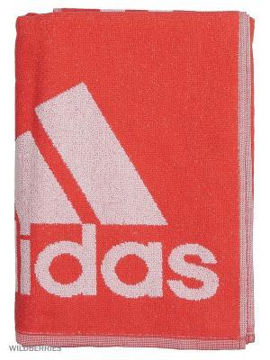 Полотенце ADIDAS TOWEL L. Цвет: светло-коралловый, белый