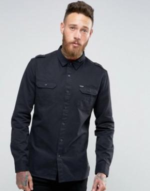 Firetrap Рубашка в стиле милитари. Цвет: черный