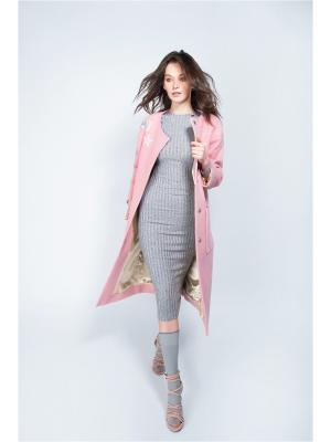 Пальто Bezko. Цвет: розовый