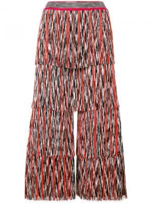 Широкие брюки плиссе Missoni. Цвет: многоцветный