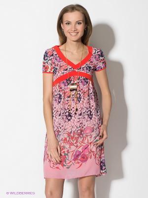 Платье TOPSANDTOPS. Цвет: розовый, красный