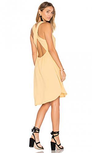 Платье full sun ZULU & ZEPHYR. Цвет: желтый