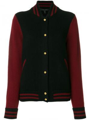 Куртка-бомбер в университетском стиле Marc Jacobs. Цвет: чёрный