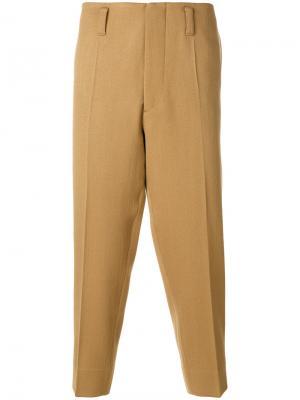 Классические укороченные брюки-чинос Marni. Цвет: телесный