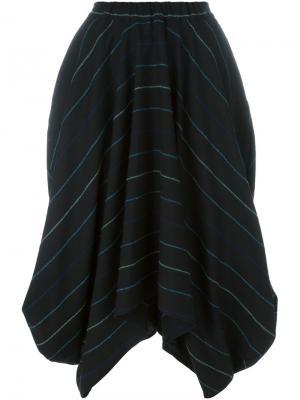 Полосатая юбка Société Anonyme. Цвет: чёрный