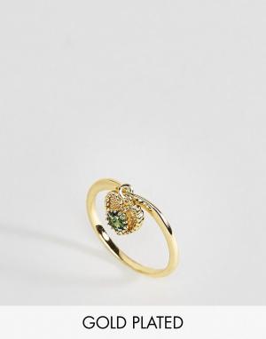 Rock 'N' Rose Кольцо с изумрудом N. Цвет: золотой