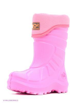 Резиновые сапоги ДюнАстра. Цвет: розовый