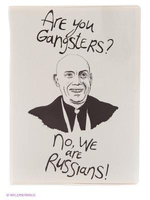 Обложка для паспорта We are Russians! Kawaii Factory. Цвет: молочный