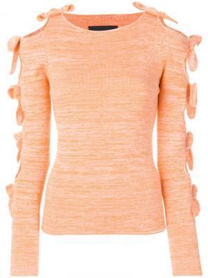 Джемпер thin lovelace Zoe Jordan. Цвет: жёлтый и оранжевый