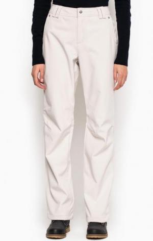 Утепленные брюки из полиэстера LUHTA. Цвет: молочный