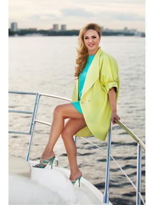 Пальто Sofi Strokatto. Цвет: светло-желтый