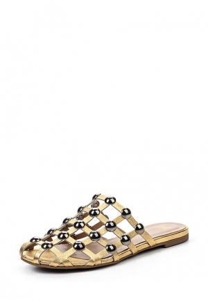 Шлепанцы Grand Style. Цвет: золотой