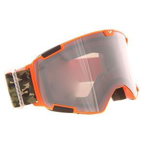 Маска для сноуборда  Crew Mto Dsc Silver/Smoke I/S Eyewear. Цвет: оранжевый,черный