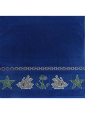 Полотенце банное A and C Collection. Цвет: синий
