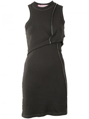 Мини-платье асимметричного кроя Eckhaus Latta. Цвет: чёрный
