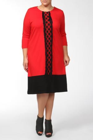 Платье QNEEL Q'NEEL. Цвет: красный