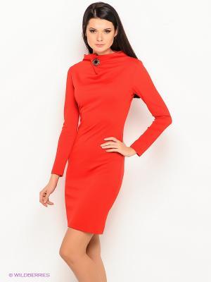 Платье Lussotico. Цвет: коралловый