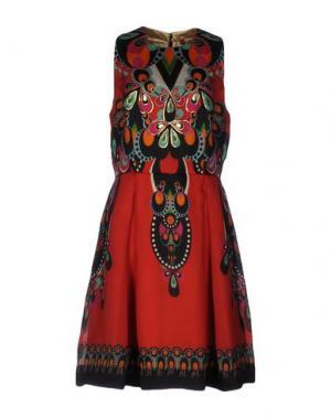 Платье до колена MANISH ARORA. Цвет: красный