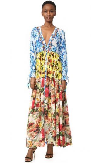 Романтичное макси-платье с цветочным рисунком ONE by ROCOCO SAND. Цвет: пастельный