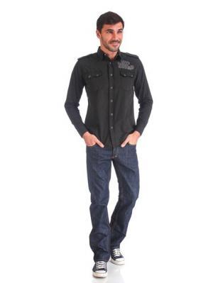 Рубашка VON DUTCH. Цвет: черный