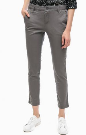 Укороченные брюки чиносы United Colors of Benetton. Цвет: серый