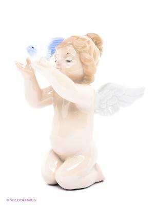 Фигурка Ангелочек Pavone. Цвет: молочный, сиреневый, бежевый