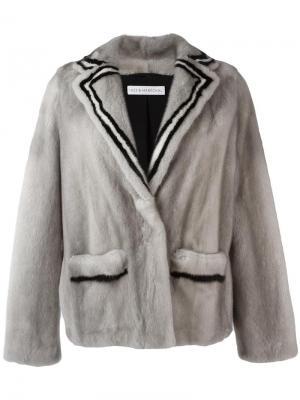 Меховой пиджак Attitude Inès & Maréchal. Цвет: серый
